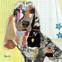 Basset Hound Dog Art: Basset Hound dog art prints on canvas and paper. Abstract basset hound art, pop art of basset hound Dachshund, Collage Kunst, Collage Art, Pop Art, Dog Artist, Basset Hound Dog, Medium Art, Canvas Art Prints, Dog Prints