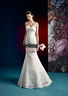 2017 Wholesale Vestido De Novia Mermaid Appliques One Shoulder Zipper Lace Satin Sweep Train White Wedding Dresses