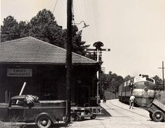 Constructed in 1916 for the Seaboard Air Line Railway, the depot provided passenger service to Emory University and surrounding neighborhoods until 1969.  In 1955, the station was  immortalized in a story by writer Flannery O'Connor.   Emory University Archives Photograph Collection, Manuscript, Archives, and Rare Book Library, Emory University.