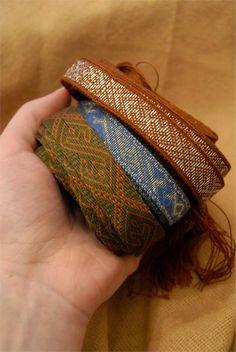 Tablet woven Birka braids by Tríona Ní Erc