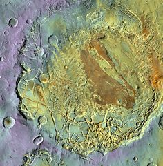 A Martian basin called Aram Chaos | NASA/JPL-Caltech/Arizona State U | via Scientific American