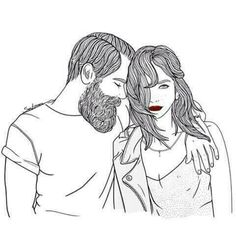 Image shared by Find images and videos about love, boy and art on We Heart It - the app to get lost in what you love. Art And Illustration, Couple Sketch, Couple Drawings, Outline Drawings, Art Drawings, Marinette E Adrien, Tumblr Outline, Foto Art, Arte Pop