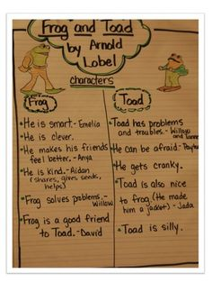 frog and toad :) first-grade-stuff