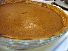 Completed soy milk pumpkin pie.