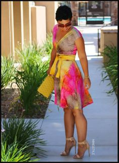 I am so in love with the whole tye dye thing...I have several pieces like that But this dress...I love wraps