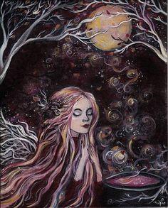 Autumn Faerie Spell to turn the leaves gold - Lady Viktoria Autumn Fairy, Arte Sketchbook, Art Corner, Witch Art, Fairytale Art, Gothic Art, Faeries, Dark Art, Art Inspo
