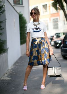 love t shirts with fancy skirts