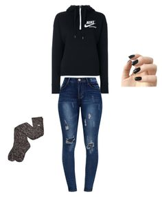"""Angrr"" by gracevalek on Polyvore featuring NIKE, UGG and Incoco"