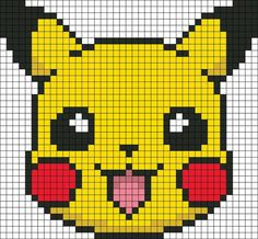 Pokemon Craft & Fun Activities Pikachu Hama bead pattern like if you played some of the first generations games.Pikachu Hama bead pattern like if you played some of the first generations games. Fuse Bead Patterns, Kandi Patterns, Perler Patterns, Beading Patterns, Cross Stitch Patterns, Beading Tutorials, Bracelet Patterns, Pikachu Pikachu, Pika Pokemon
