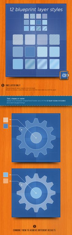 Blueprint Layer Styles — Layered PSD #blue print #professional • Available here → https://graphicriver.net/item/blueprint-layer-styles/519723?ref=pxcr