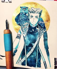 For #inktober day 22. I've been using too much blue lately tbh