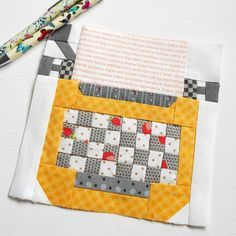"""Block 126 - Typewriter Block from Lori Holt's Spelling Bee book. I have a quick and easy way of making those itty bitty typewriter keys for the 6"""" version."""