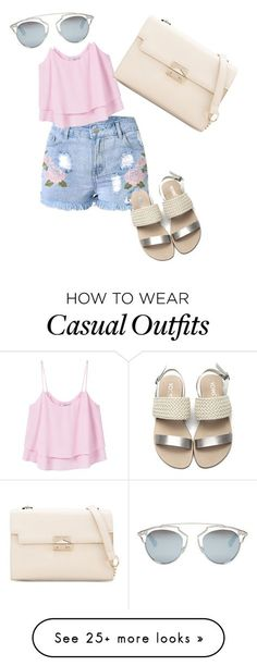 """Casual summer outfit"" by jasmin-marie-pena on Polyvore featuring MANGO and Christian Dior"