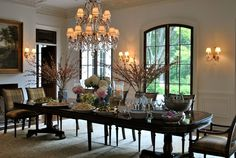 The Enchanted Home: Party central part I  Chandeliers and doors
