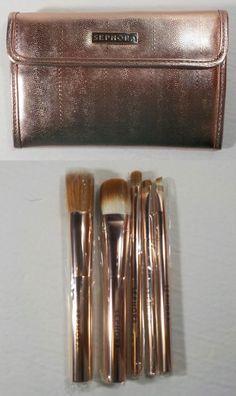 Sephora Rose Gold Metal 5pc Makeup Brush Set Never used pink #Sephora