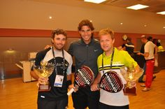 Senent & Doncel with Rafa Nadal in Roma!