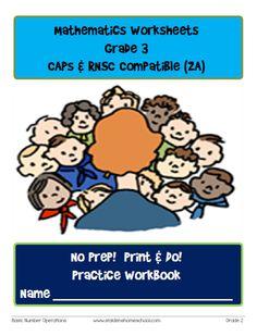 No Prep! Print & Do! Grade 3 Math Practice Workbook CAPs Compatible