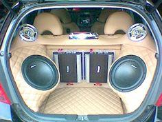 Car Audio Car Speaker Box, Custom Speaker Boxes, Speaker Box Design, Custom Subwoofer Box, Subwoofer Box Design, Custom Car Audio, Custom Cars, Pontiac Fiero Gt, Car Audio Installation