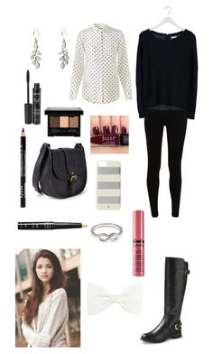 """""""Leggings"""" by linakishawi ❤ liked on Polyvore featuring Jacqueline De Yong, Jigsaw, Merona, Kate Spade, NYX, Forever 21, Vera Bradley and Accessorize"""