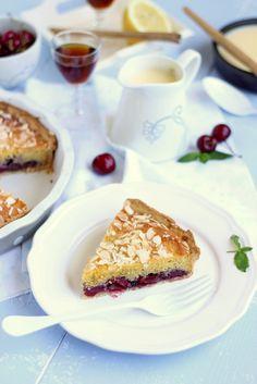 Cherry and blueberry Jam Almond Tart