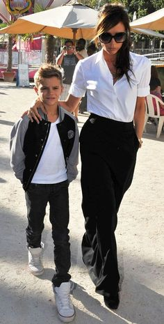 Romeo Beckham, Victoria Beckham. The Beckhams seem to be some truly amazing parents to their 4 children..