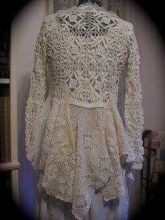 Romantic Sweater Coat victorian white