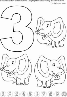 Kids Math Learning, Kids Math Activities, Numbers with Pictures - Nursery Math Printable Exercise -3