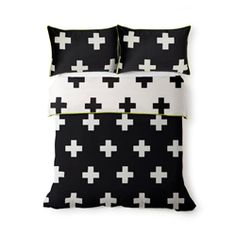 Quilt Cover Crosses Black KING – Shut the Front Door! Cross Quilt, Black King, Quilt Cover, Linen Bedding, Duvet Covers, Crosses, Throw Pillows, Quilts, Interior Design