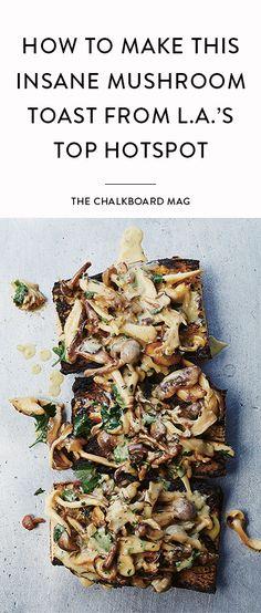 insane mushroom toast