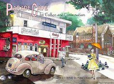 'Parade Café' Wall Art