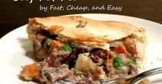 Mmm. One of my favorite things to do with leftover roast. Beef. Pot. Pie. Here's what you need: 1 – 1 1/2 cups roast (if you don't have ...