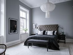 my scandinavian home: Traditional grandeur meets contemporary in a Swedish space Traditional Interior, Contemporary Interior Design, Home Interior Design, Swedish Home Decor, Scandinavian Home, Cosy Bedroom, Dream Bedroom, Swedish Bedroom, Bedroom Decor For Teen Girls