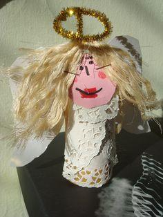 Angel using toilet paper!