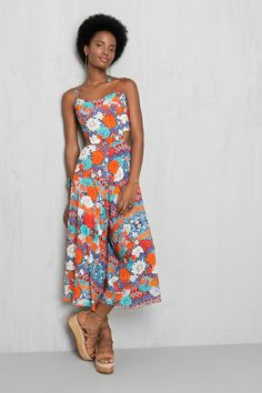 macacão pantacourt estampado kawaii | Dress to