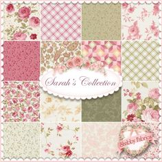 """Sarah's Collection  16 FQ Set By Jennifer Chiaverini For Red Rooster Fabrics: Elm Creek Quilts: Sarah's Collection is a collection by Jennifer Chiaverini for Red Rooster Fabrics.  100% cotton.  This set contains 16 fat quarters, each measuring approximately 18"""" x 21""""."""