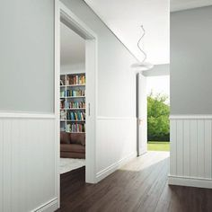 HOME DZINE Home Decor Decor and design is in the detail is part of Dado rail Any home can be enhanced by adding architectural detailing with the installation of decorative mouldings Dylan Miller - Dado Rail Hallway, Entry Hallway, Dado Rail Bedroom, Dado Rail Living Room, Grey Hallway, Frame Wall Decor, Frames On Wall, Demis Murs, Architecture