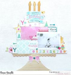 "297 Likes, 4 Comments - Cocoa Vanilla Studio Zoe Pearn (@cocoa_vanilla_studio) on Instagram: ""Here's a layout from Tarrah that certainly takes the cake! 😉 This one was created using our brand…"""