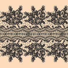 Seamless Pattern Black Lace by vikpit74, Royalty free vectors #55362590 on Fotolia.com