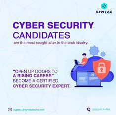 The digital age is at once accompanied by mounting possibilities of cyber threats and attacks. Our Cyber Security training course provides you with an exceptional opportunity to evolve as professional Cyber Security analysts and consequently, grab a coveted position within the job market. #cybersecuritybooks #cybersecurity #infosec #ethicalhacking #hacking #kalilinux #cybercrime #informationsecurity #pentesting #malware #hackers #hacker #cyberattack #ethicalhacker #cybersecurityawareness #linux Cyber Security Course, Cyber Security Awareness, Cyber Security Certifications, Security Training, Cyber Threat, Cyber Attack, Data Protection, Marketing Jobs, Training Courses