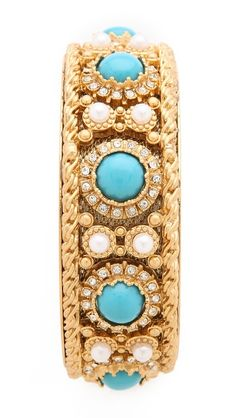 Juicy Couture pearl/turquoise bangle.