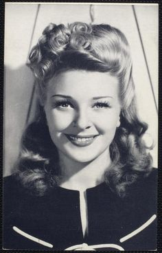 Todays 1940s hair & makeup inspiration. Evelyn Ankers (17 August 1918 – 29 August 1985)