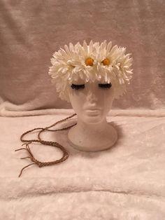 60's 70's Hippie Daisy Chain Flower Crown Headband. Retro Festival Costume Boho #EmpireMiniTopHats