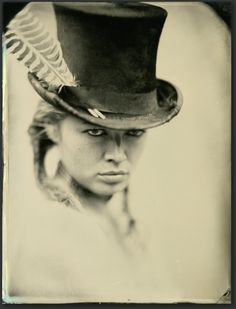 Ukushu  Ed Ross Comments: The wet plate, aka collodion, photographic process dates from 1851, having been invented by Frederick Scott Archer...  All of the images ... are tintypes — a piece of blackened aluminum over which the image is created in silver, and over which a varnish is placed to protect the fragile image from physical harm (eg, scratches) and tarnishing (changes to the silver due to exposure to chemicals found in the environment).