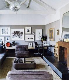 Mens Industrial Loft Bachelor Pad Living Room Ideas | Apartment ...