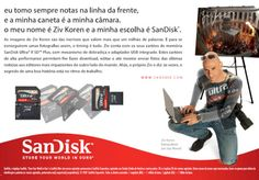 SanDisk Ultra Memory Card advert with Ziv Koren - Portuguese language localisation - Portuguese typesetting
