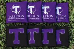 Cornhole Bag Logo Set - Tarleton State University Texans 27785
