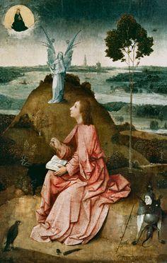 Johannes on Patmos - Hieronymus Bosch (El Bosco) (1450-1516)
