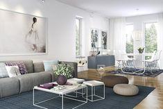 Bilder, Vardagsrum, Soffa, Matta, Vitt - Hemnet Inspiration
