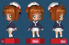 PAPERMAU: Sakura Card Captors - Sakura Kinomoto Paper Doll In Chibi Styleby Paper Mike