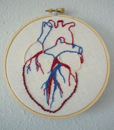 anatomically correct heart embroidery